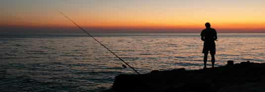 fiskestang til havet